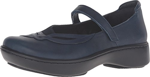NAOT Footwear Women's Bluegill Maryjane Flat Ink Lthr/Blue Velvet Suede/Polar Sea Lthr 6 M US