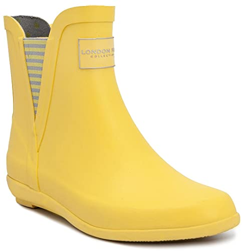 LONDON FOG Womens Piccadilly Rain Boot Yellow 10 M US