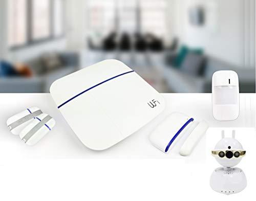 LGtron WLAN GPRS GSM Funk Alarmanlage LGD8006 mit P2P PT WLAN Innenkamera bei Alarm Push-Info e-Mail mit Foto Video auto. aufnehmen ideale Ergänzung sofort live beobachten hineinhören/sprechen