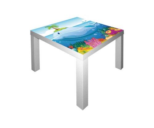 Unterwasserwelt Möbelsticker/Aufkleber für den Tisch LACK von IKEA - IM189 - Möbel Nicht Inklusive | STIKKIPIX