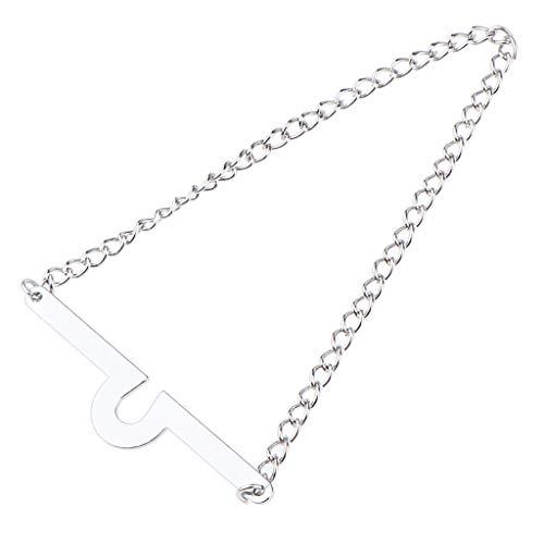 IPOTCH 1 Stück Krawattenkette Manschettenknöpfe Geschenk Set hochwetige Geschenkset aus Edelstahl - Silber