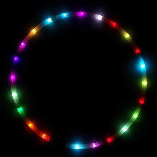 URMAGIC LED Hoola Hoop Reifen Fitness für Erwachsene Kinder Tanz & Fitness Glow Light Up Hula Hoolahoop, Tragbare Led Röhre Hoops (Batterien Nicht enthalten) - Abnehmen und Gewicht Reduzieren -by