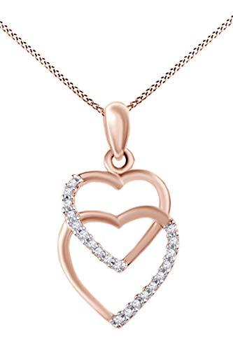 AFFY   oro 375  10 ct Rosa oro redondo   IJ diamante blanco
