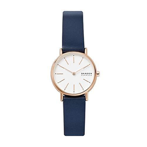 Skagen Damen Analog Quarz Uhr mit Leder Armband SKW2838