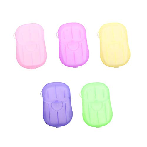 10 cajas de papel de jabón desechables, tamaño mini, portátil, seguro, saludable, natural, para lavar las manos, hojas de jabón al aire libre, viajes, camping, senderismo, cuidado de limpieza de manos, color al azar