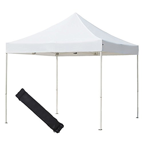 Abba Patio 10 x 10 ft Outdoor Heavy Duty Pop Up Portable Instant Canopy Event Commercial Folding Canopy, White