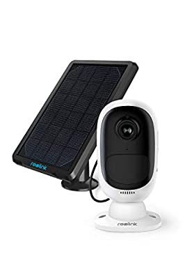 Reolink Outdoor Security Camera Wireless Rechargeable Battery 1080P Video Night Vision Motion Detection, 2-Way Talk, Waterproof Support Google Assistant, Cloud Storage | Argus 2 + Solar Panel