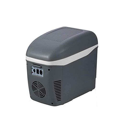 JFFFFWI Tragbare 7,5 l Auto Mini Kühlschrank Typ elektrische Kühler Heizung Auto Kühlschrank Gefrierschrank Wärmer [Energieklasse A ++]