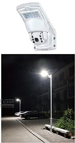 Lampioni stradali solari con telecamera ptz wifi ip - luci stradali professionali con sistema di sorveglianza 360° - CERTIFICAZIONI A NORMA CE SPYTEK ITALY