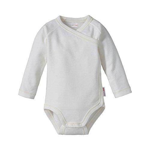 Bornino Le Body Portefeuille à Manches Longues bébé, Blanc
