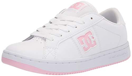 DC womens Striker Skate Shoe, White/Pink, 6.5 US