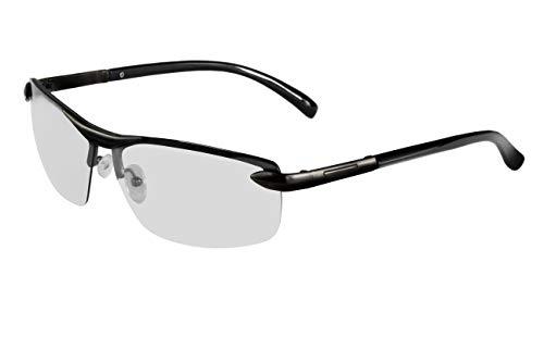 Zodight Gafas De Sol Polarizadas Fotocromáticas Para Hombre Para Conducir Deporte Al Aire Libre con Bastidor AL-MG Ultraligero (Negro)