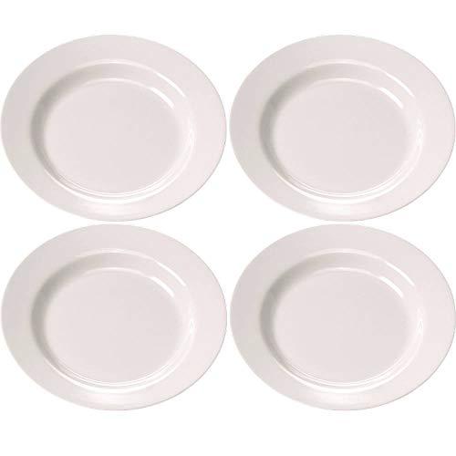 Viva-Haushaltswaren 4 Suppenteller Camping Geschirr aus hochwertigem Melamin Kunststoff Ø 23 cm
