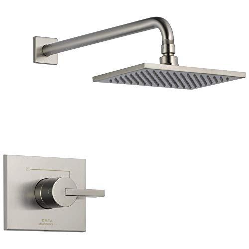 Delta Faucet Vero 14 Series Single-Function Shower Trim Kit with Single-Spray Touch-Clean Rain Shower Head, Stainless T14253-SS (Valve Not Included)