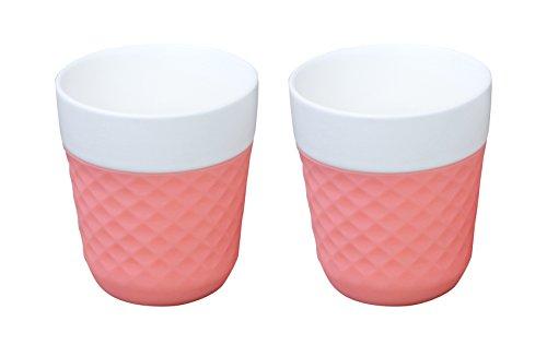 COOKUT Lola 2 Porcelaine Tasses à thé/café 20 cl, Rose