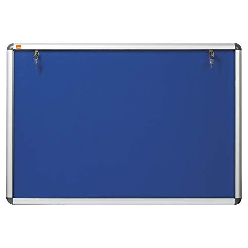 Nobo Display Kast Noticeboard Visual Insert Afsluitbaar A1 W907xH661mm Blauw Ref 1902048
