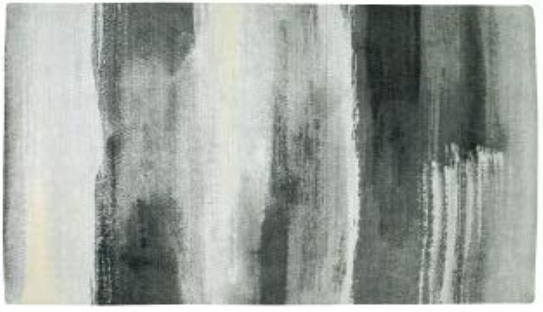 昇進道徳教育フルートインド製 カジュアルデザイン 玄関マット タノティ 1803 (ブラック, 60×90cm)