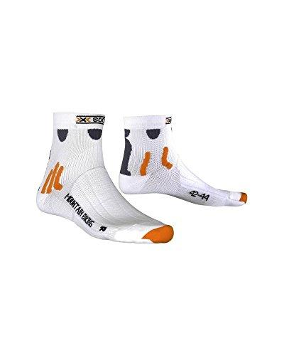 X SOCKS MOUNTAIN BIKING SHORT MTB Unisex Mountainbike Fahrrad Socken X020007(39-41,W000 WHITE - weiss)