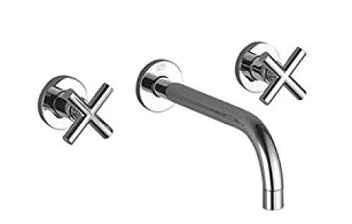 Dornbracht–Tara. lavabo Miscelatore del Cromo Montabile a Parete 36717892–00–Proiettore di 240mm–Collo Rigido