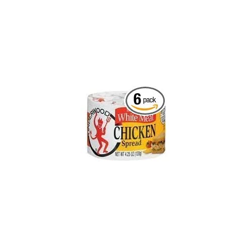 Underwood White Meat Chicken Spread, 4.25oz Cans (Pack of 6)