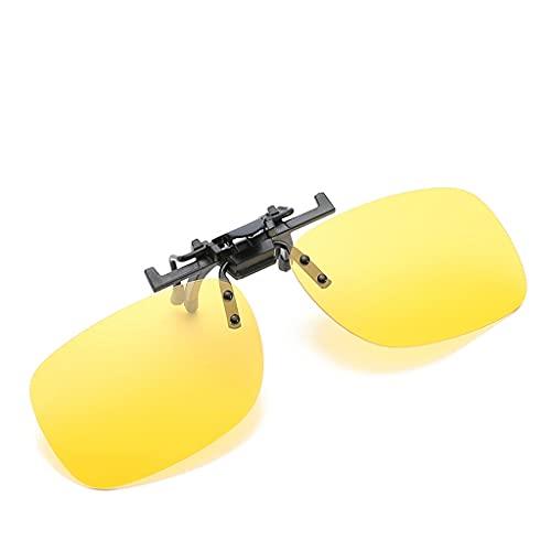 Dakecy Gafas de conducción Nocturna fotocromáticas con Clip, Gafas de Sol polarizadas con Clip, Gafas de Sol sin Montura abatibles para Mujeres y Hombres, Gafas de miopía Ligeras (Color : COL-08)