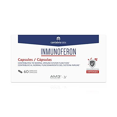 Inmunoferon Complemento Alimenticio 60 Capsulas.- Refuerza El Sistema Inmunológico, Ayuda A Las Defensas, Fórmula Exclusiva Con Am3, Sin Gluten, Sin Lactosa, 3 ml