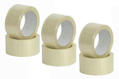 Mauri Nastro adesivo trasparente largo da imballo, Ultra resistente, ideale per pacchi, 50mm x 66m - 6 rotoli di scocht
