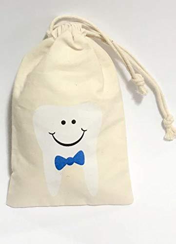 BOY Tooth Fairy Tas, Pouch - Keepsake Cadeau voor Baby Kinderen & Kinderen - Toilettas voor Reizen Slapen om Tandenborstel, Tandpasta, Floss te houden. Verjaardag, doop, doopgeschenk. Party Favor.