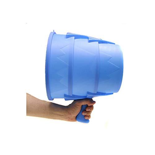 Monsterzeug Airzooka, Luftkanone, Wirbelkanone, Spaßkanone mit Luftgeschossen, Spielzeug für Kinder Erwachsene, Büro, Kollegen, Blau