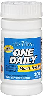 21st Century Men's Health One Daily Multivitamin Multimineral Supplement Tablets - 100 ct, Pack of 2