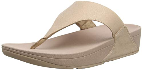 FitFlop Lulu Shimmerlux, Chanclas Mujer, Rosa (Rose Gold 323), 41 EU