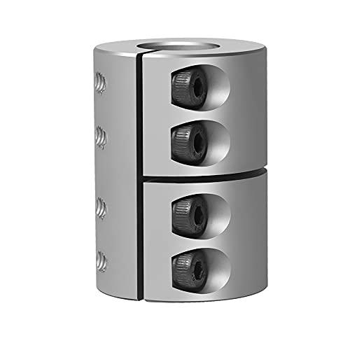 Sinoblu 8mm to 10mm Rigid Clamp-On Couplings, Aluminum Shaft Coupling 32 Diameter 45 Length, Motor Shaft Coupler Connector for CNC Machine 3D Printer DIY Encoder