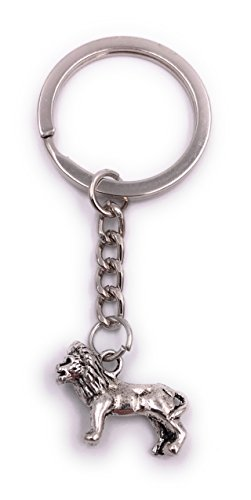 H-Customs Lion Lion key ring pendant silver metal