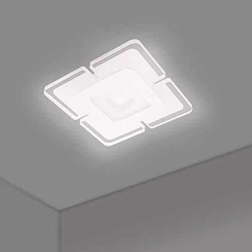 TIEMORE Luz de Techo LED Ultrafina de Forma Cuadrada Lámpara LED de Techo Sencillo Plafón Led Techo Instalación Fácil Para la Sala de estar del Dormitorio