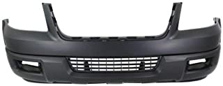 Front Bumper Cover Compatible with 2004-2006 Ford Expedition Primed with Absorber with Spoiler Holes Eddie Bauer/Limited/XLT Sport Models