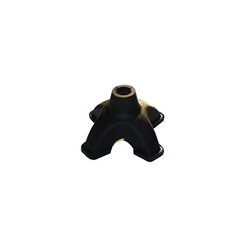 WINOMO Cojín de muleta para bastón Resistente de 19 mm con Cuatro Patas de Goma para bastón (Negro)