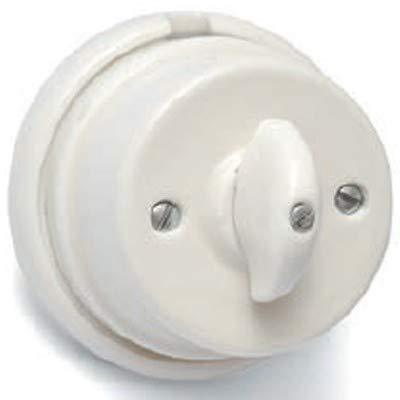 Interruptor de porcelana blanco