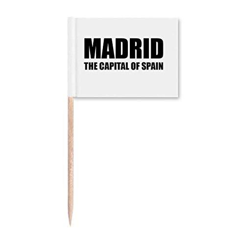 Madrid die Hauptstadt von Spanien Zahnstocher Flaggen Marker Topper Party Dekoration