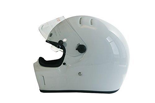 CRG Sports ATV Motocross Motorcycle Scooter Full-Face Fiberglass Helmet DOT Certified ATV-1 White Size Large