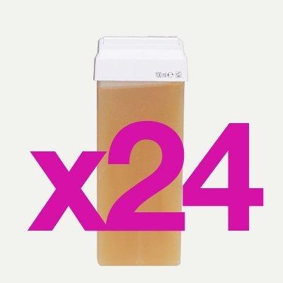 24 Cartouches de Cire Roll-on au Miel 100g