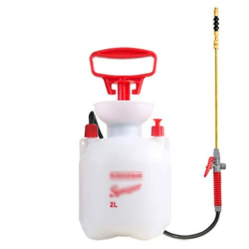 Kiki Pulverizadores de presión multifunción 2L Pulverizador a presión de compresión de Aire de la Mano de la Bomba Botella nebulizador Regadera Herramienta de Limpieza Jardín (Color : White)