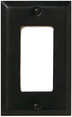 Deltana SWP4754 Single GFI Switch Plates, Oil Rubbed Bronze