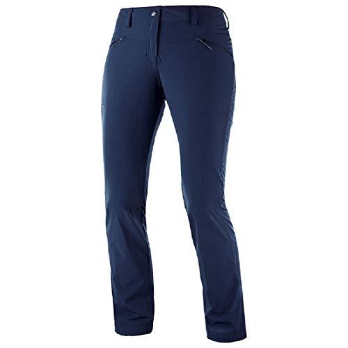 SALOMON Damen Wayfarer Straight Lt Pant Outdoor-Hose,Blau (Night Sky),56/R