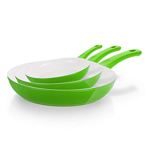 Cerafit Style Pfannen, Set 3tlg. Farbe Grün