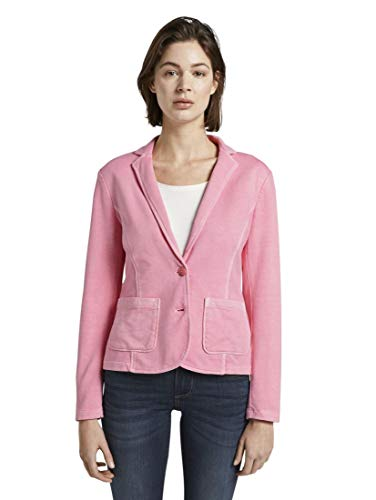 TOM TAILOR Damen Blazer & Sakko Sweat-Blazer mit Farbwaschung Antique Blush pink,M