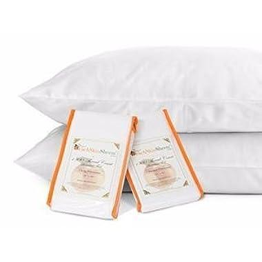 PeachSkinSheets Night Sweats: The Original 1500tc Soft Standard Pillowcase Set Brushed Silver