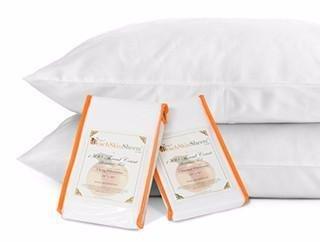 PeachSkinSheets Night Sweats: The Original 1500tc Soft King Pillowcase Set Graphite Gray