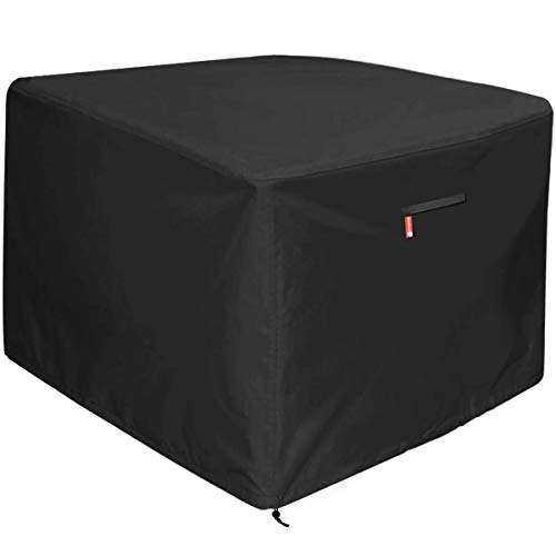 YEYUNTO Roll Over Image to Zoom in Gas Fire Pit Cover Square - Premium Patio Outdoor Cover Heavy Duty Fabric with PVC Coating,100% Waterproof,Anti-Crack,Fits for 30 inch,31
