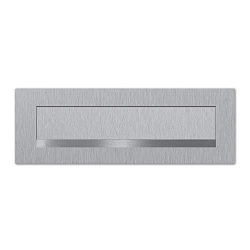 Briefeinwurf Edelstahl mit unsichtbarer Befestigung (Briefeinwurf 350x80mm)