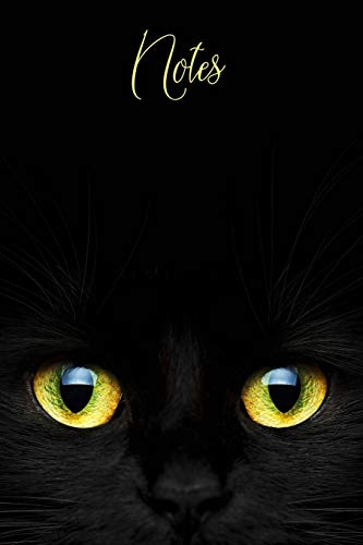 Notes: Black Cat Notebook Journal with Yellow Eyes Design|Wide-Ruled| 120 pages| Glossy Cover|Perfect Gift for Halloween, Thanksgiving or Fall ... Ideas, School, To-Do-List,Creative Ideas